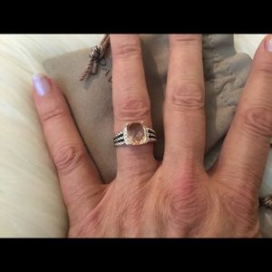 Gorgeous David Yurman Morganite & Diamond Petite W